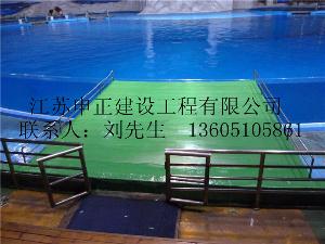 海洋馆生物表演池聚脲防水喷涂